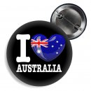Button - I LOVE AUSTRALIA -