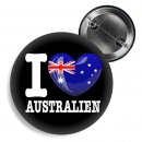 Button - I LOVE AUSTRALIEN -