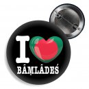 Button - I LOVE BANGLADESCH / bengalisch 01 -
