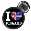 Button - I LOVE ICELAND -