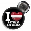 Button - I LOVE LATVIJAS REPUBLIKA -