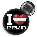 Button - I LOVE LETTLAND -