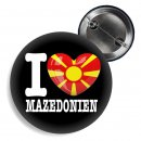 Button - I LOVE MAZEDONIEN -