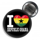 Button - I LOVE REPUBLIC OF GHANA -