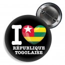 Button - I LOVE RÉPUBLIQUE TOGOLAISE -
