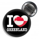 Button - I LOVE GREENLAND -