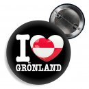Button - I LOVE GRÖNLAND -