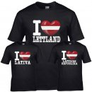 Kinder T-Shirt - I LOVE LETTLAND -