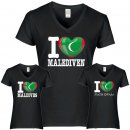Damen T-Shirt - I LOVE MALEDIVEN -