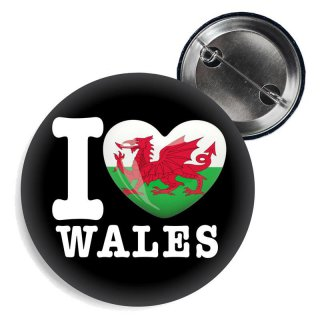 Button - I LOVE WALES -