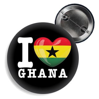 Button - I LOVE GHANA -