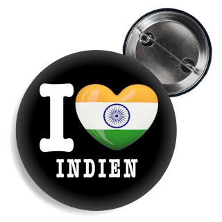 Button - I LOVE INDIEN -