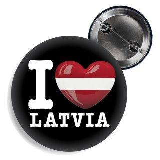 Button - I LOVE LATVIA -