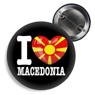 Button - I LOVE MACEDONIA -