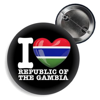 Button - I LOVE REPUBLIC OF GAMBIA -
