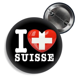 Button - I LOVE SUISSE -