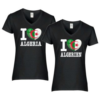 Damen T-Shirt - I LOVE ALGERIEN -