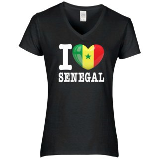 Damen T-Shirt - I LOVE SENEGAL