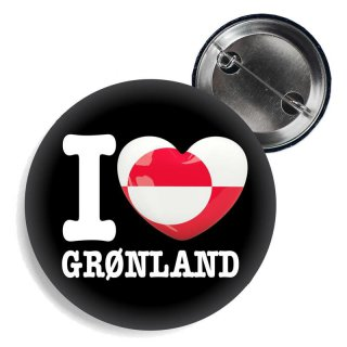 Button - I LOVE GRØNLAND -