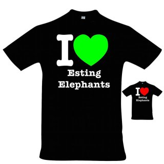 T-Shirt I love Esting Elephants