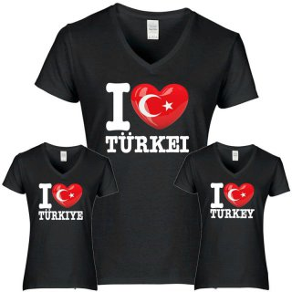 Damen T-Shirt - I LOVE TÜRKEI