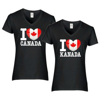 Damen T-Shirt - I LOVE KANADA