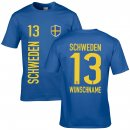 Kinder Fan-Shirt - SCHWEDEN -