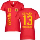 FanShirts4u Damen Fan-Shirt - ESPAÑA - XL
