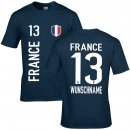 Kinder Fan-Shirt - FRANCE - Gr. 7/8 Jahre 122 - 128 cm