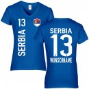 Damen Fan-Shirt - SERBIA -