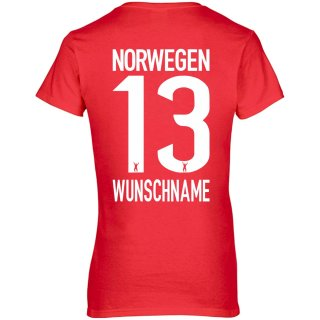 Damen Fan-Shirt - NORWEGEN -