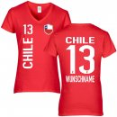 FanShirts4u Damen Fan-Shirt - CHILE - M