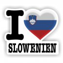 Aufkleber - I LOVE SLOWENIEN - I love Slowenien No. 4 -...