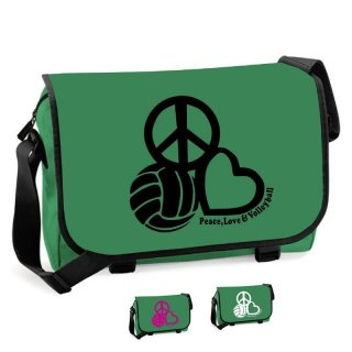 Messenger-Bag Peace, Love & Volleyball